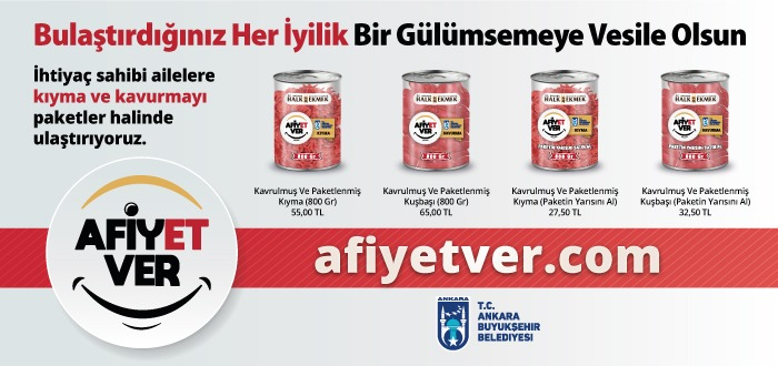 """AFİYET VER"" KAMPANYASI BAŞLADI"