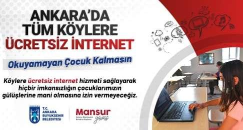 Büyükşehir Belediye Başkanımız Sn. Mansur YAVAŞ'tan Tüm Köylere Ücretsiz İnternet Müjdesi