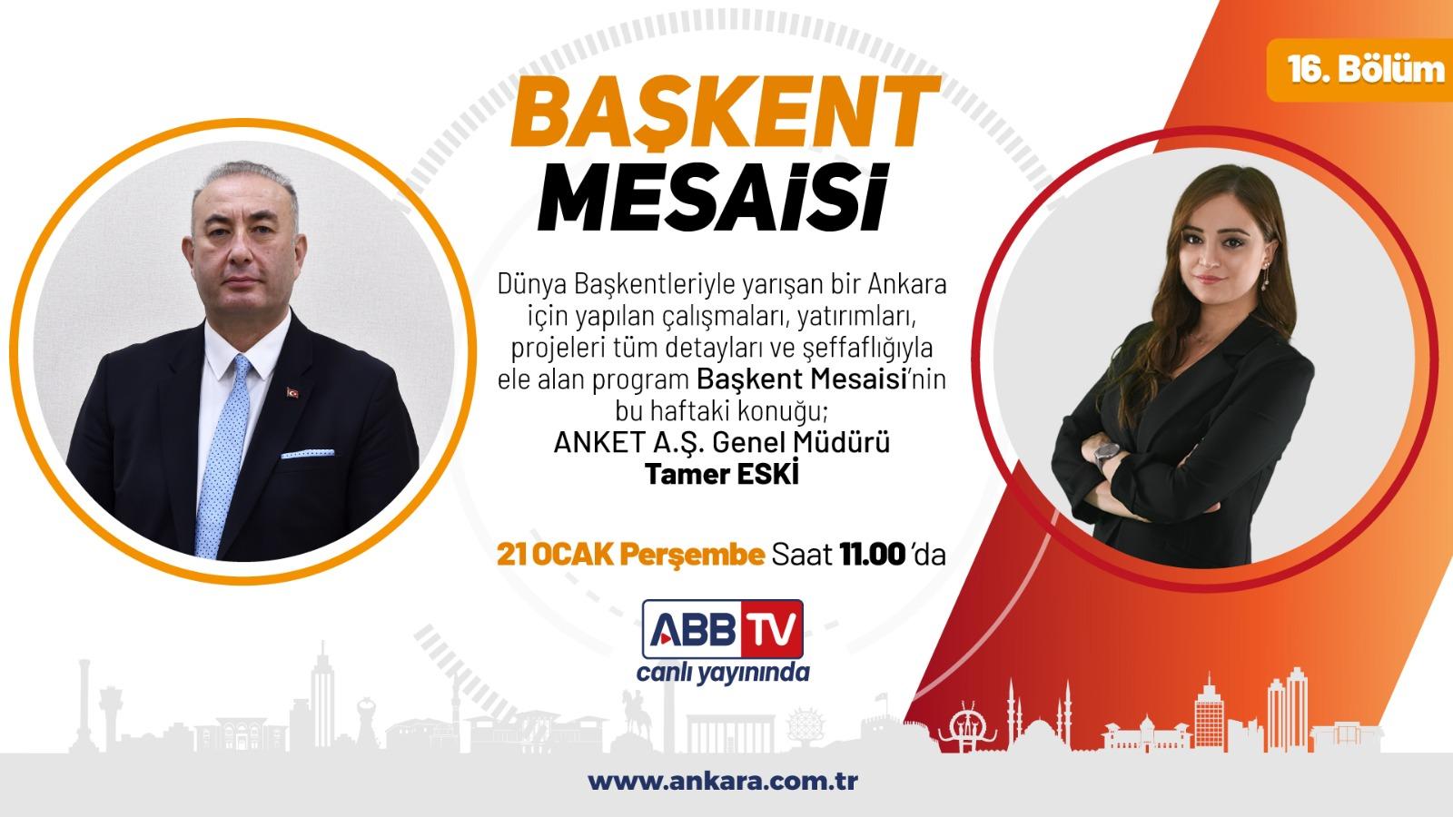 Genel Müdürümüz Sn. Tamer ESKİ, ABB TV'nin canlı yayın konuğu oldu